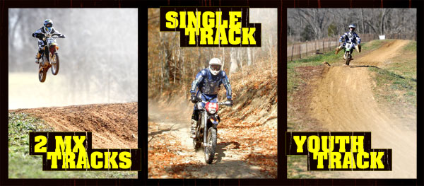 2 MX Tracks. Single Track. Kids Track.